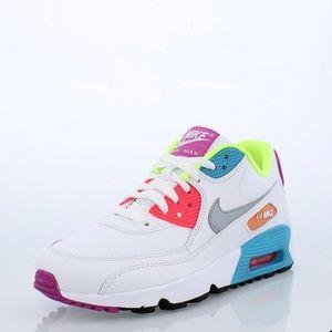 Nike Air Max 90 SE Leather Big Kids' Shoe NWT